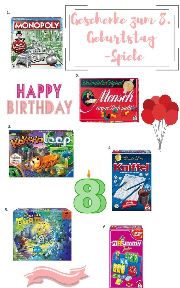 Geschenkideen zum achten Geburtstag