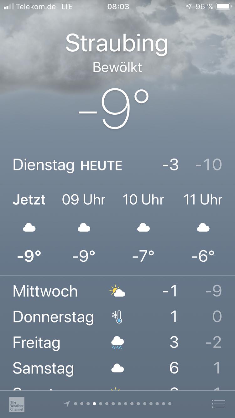 kalter Dienstag